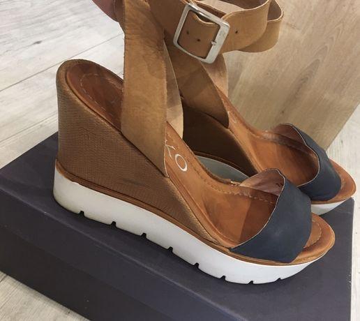 Skórzane sandały Ryłko r. 38 skóra