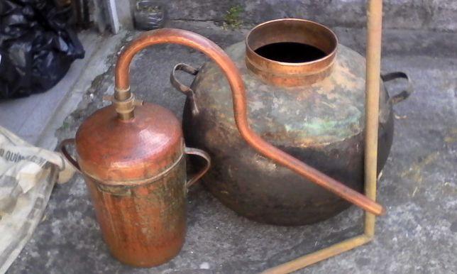 Alambique manual em cobre