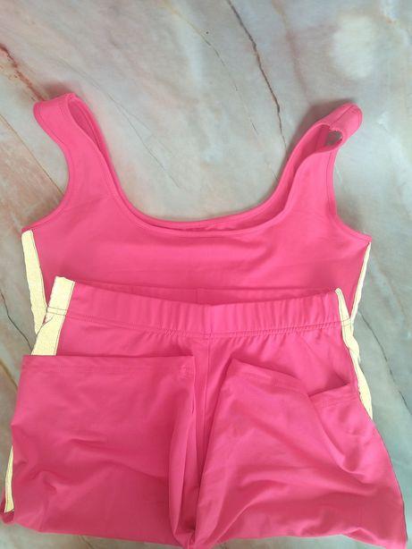 Набор костюм велосипедки рефлективный спортивный женский розовый
