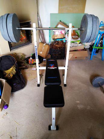 Комплект: скамья для жима Inter Atletika ST-003 + гриф с блинами