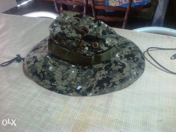 Chapéu boina militar camuflado camuflagem caçador paintball *novo