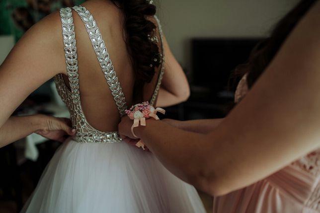 Suknia ślubna kryształki nie biała 2020