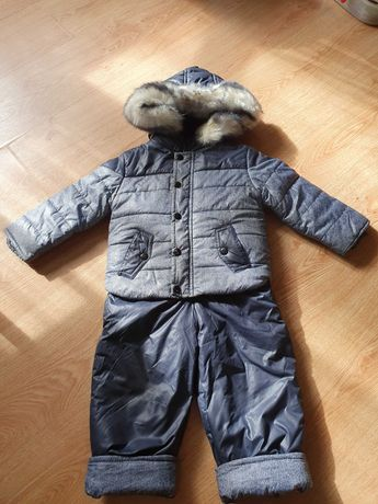 Зимний комбинезон с курточкой на овчине