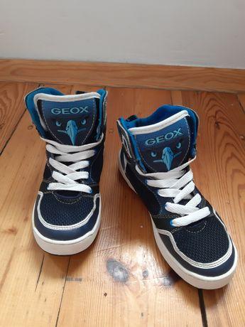 Adidasy GEOX dla chłopca granatowy, biały, niebieski rozmiar 34