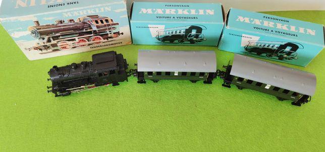 Marklin comboio locomotiva carruagem  ho 1/87