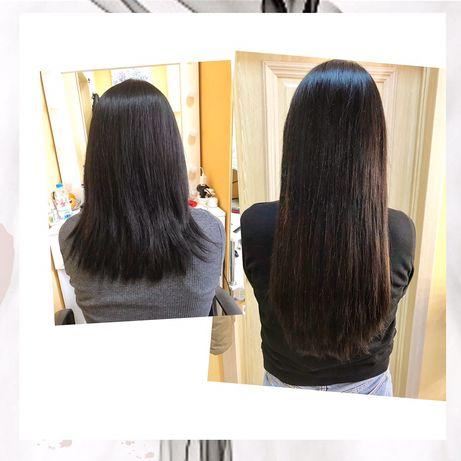Наращивание волос, коррекция наращенных волос, приятные цены