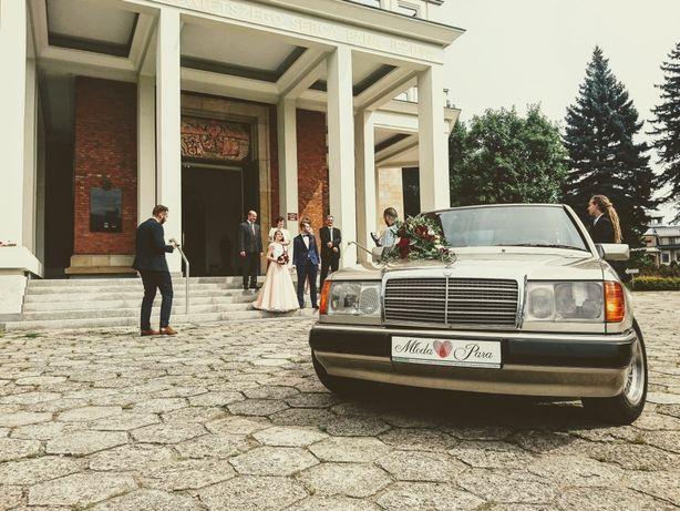 Auto do ślubu z£oty mercedes benz
