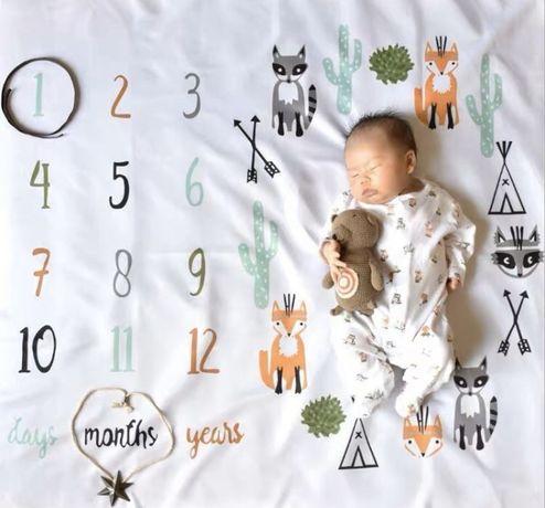 Фотопеленка фотофон наклейки для фото подарок новорожденому