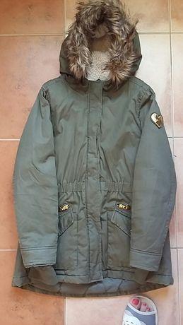 Kurtka płaszcz zimowy dziewczęcy r.146 firmy Cool Club
