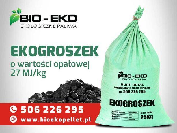 Ekogroszek workowany 25kg , luz, Pellet Drewno Kominkowe BIO-EKO