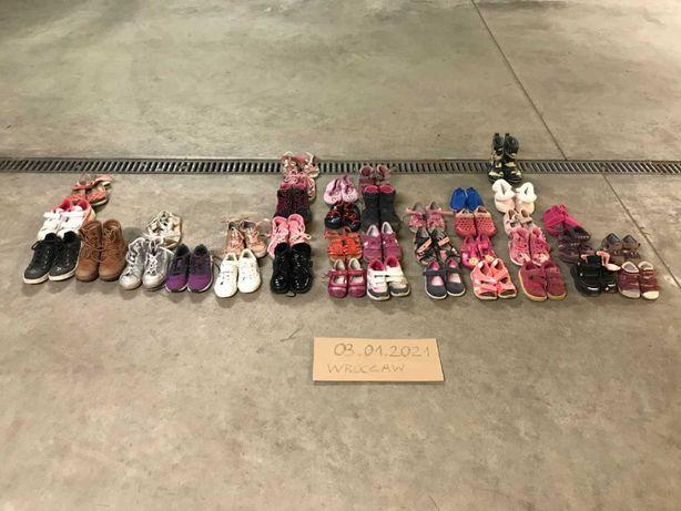 Buty dziecięce używane 45 sztuk (r. 21-33)