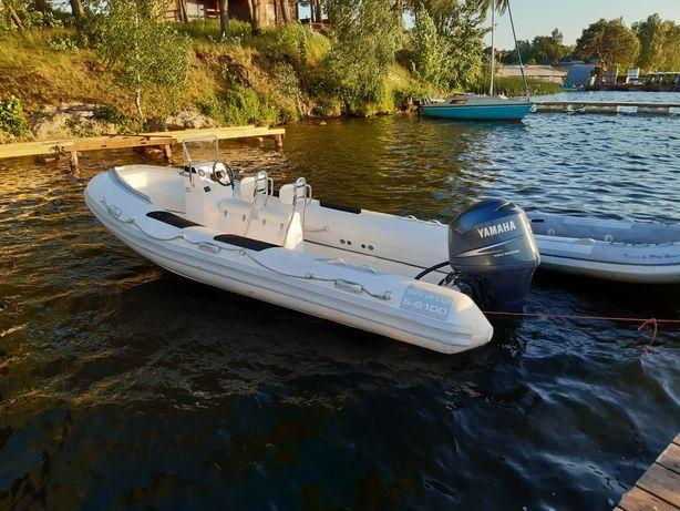 Ponton Rib sportis zaburtowy silnik yamaha f-150 motorówka łódź