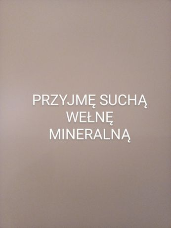 Wełna mineralna sucha