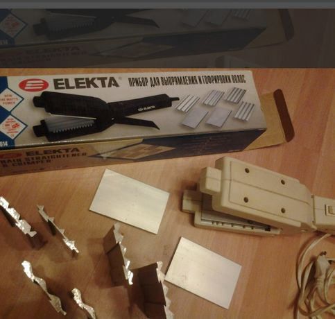 Плойка,утюжок для выпрямления,гофрирования волос ELEKTA съёмные пласти