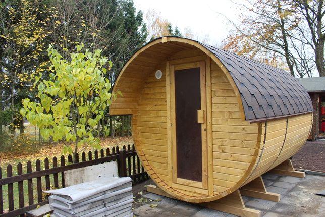 Sauna ogrodowa beczka 3,5 m agroturystyka