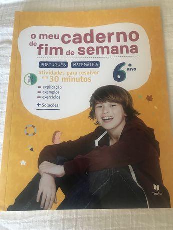 Vendo livro de exercicios (português e matemática) do 6.ano
