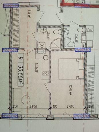Однокомнатная квартира 10мин до метро Вырлица 27870$