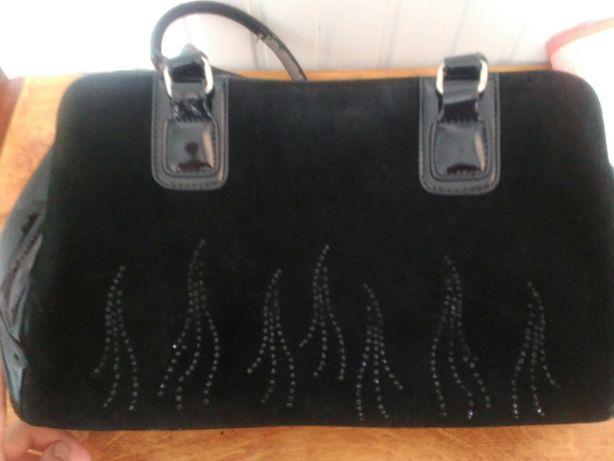 Жіноча сумка шкіра замша