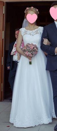 Suknia ślubna 34 + GRATISY + darmowa dostawa