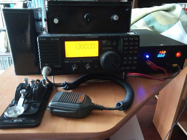 Radioamador Icom 718 e acessórios