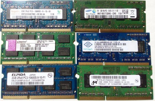 Память для ноутбука планки DDR3 по 2 Гб
