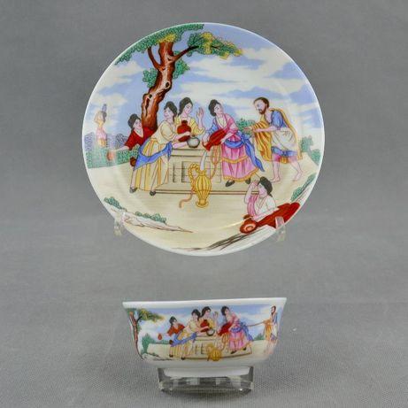 Taça e pires em porcelana - Reprodução de Companhia das Índias Vintage