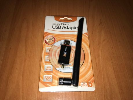 USB 3.0 5dBi Wi-Fi адаптер RTL8812 AC1200 1200Мбит/с 2 диапазона 2.4+5