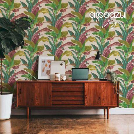 Papel de Parede Tropical - 0.53x10.50m - 3 Cores By Arcoazul Design