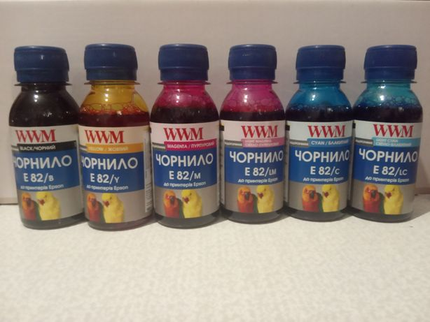 Продам комплект чернил для принтеров Epson, тип E82, 6 цветов, 100 мл