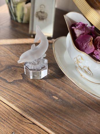 Фигурка статуэтка хрусталь Германия дельфин