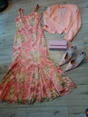 Elegancka sukienka,bolerko,gratisy. 40-42