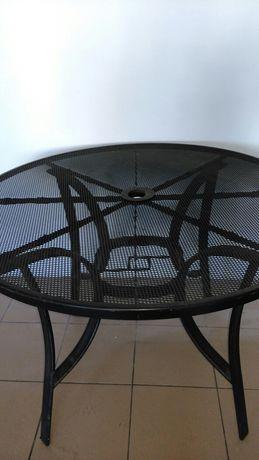 Stół,stolik metalowy ażurowy.