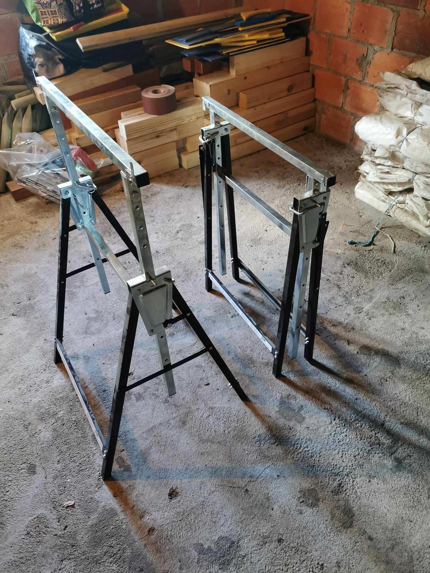 2 cavaletes dobráveis e regulável em altura novos