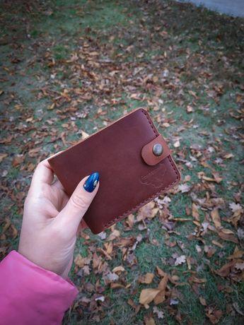 Мужское портмоне, кожаный кошелёк