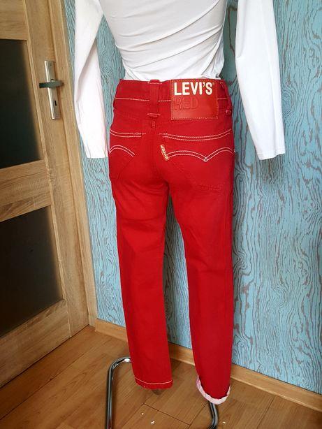 Levi's Red! Czerwone jeansy/rurki r.26/32 XS! Oryginalne! Stary model!