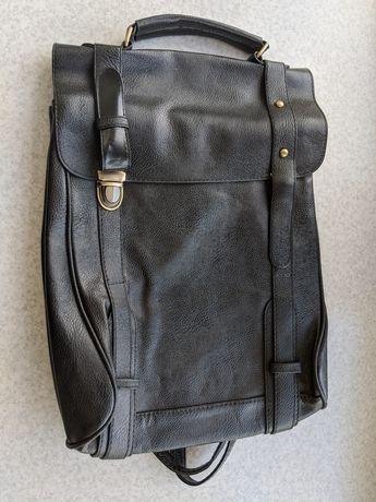Рюкзак черный с ручкой и съёмными шлейками