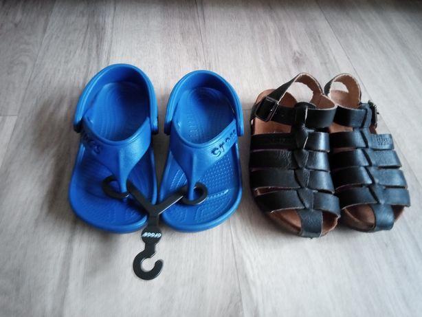 Sandały skórzane 26 sandały japonki crocs nowe