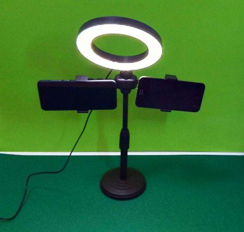 Селфі лампа з підставкою 16 см для cамсунг айфон iphone xiaomi реалмі