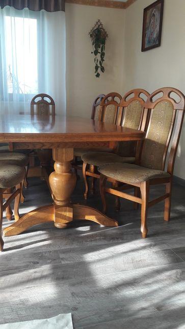 Krzesło krzesła brąz drewniane