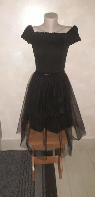 Плаття чорне з фатіновою спідницею трансформер
