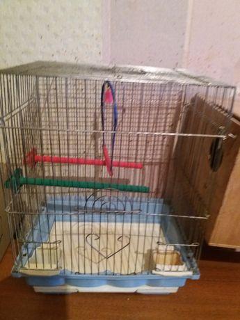 Клетка для попугая с домиком
