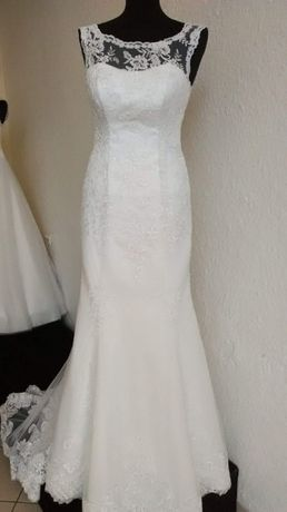 Suknia ślubna, syrena, tren, 38-42 roz.