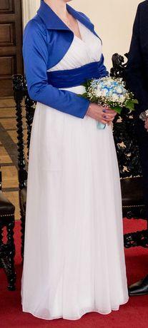 Suknia ślubna w stylu greckim, może być jako ciążowa