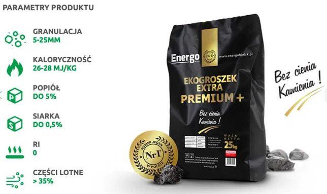 EKOGROSZEK EXTRA premium Suchy Wydajny pakowany worki 25kg