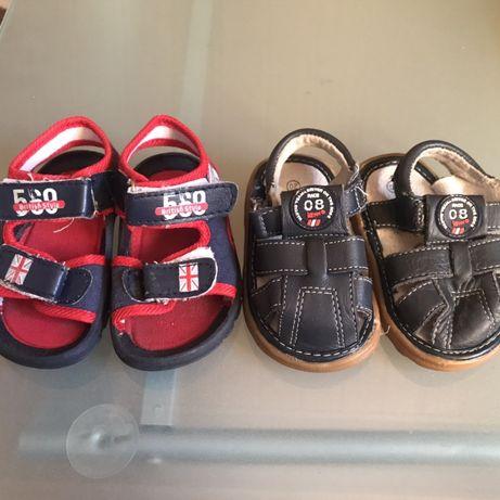 2 pary sandalki dla chlopca r.20 jak nowe skorzane i Coccodrillo