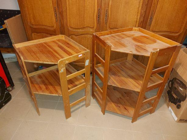 Regał drewniany narożny 166cm x 56cm x 56cm