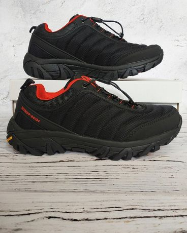 Мужские Термо кроссовки Merrell черные с красным 41 42 43 44 45 46