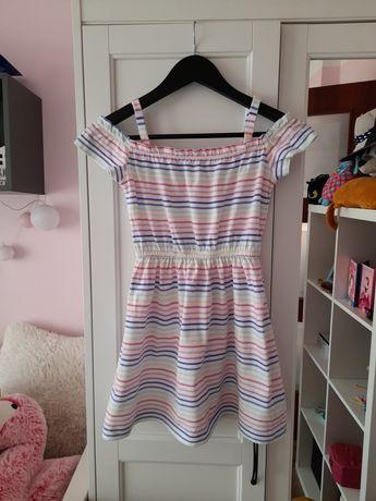 Sukienka z opuszczonymi ramionami 128