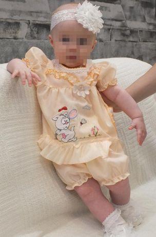 Платье +трусики. Платьичко на малышку до года.