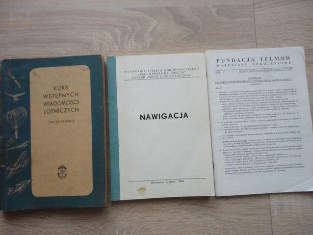 Książki lotnicze - szkoleniowe , stare